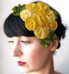 The Rosette Fascinator is now a part of the Anthropologie catalog. Via Giant Dwarf Design